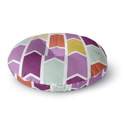 Pellerina Design Orchid Geometric Chevron Arrows Round Floor Pillow Size: 26