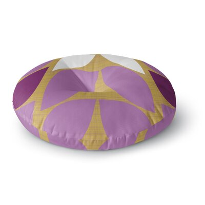 Pellerina Design Orchid Petals Round Floor Pillow Size: 23 x 23