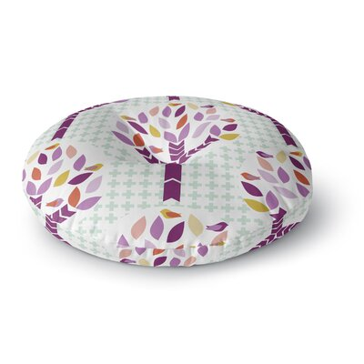 Pellerina Design Orchid Spring Tree Abstract Round Floor Pillow Size: 26