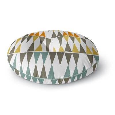 Pellerina Design Diamond Kilim Triangles Round Floor Pillow Size: 26