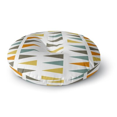 Pellerina Design Stacked Geo Triangles Round Floor Pillow Size: 26 x 26