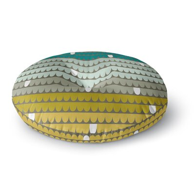 Pellerina Design Scallops Round Floor Pillow Size: 23 x 23, Color: Teal