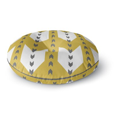 Pellerina Design Golden Aztec Round Floor Pillow Size: 26 x 26