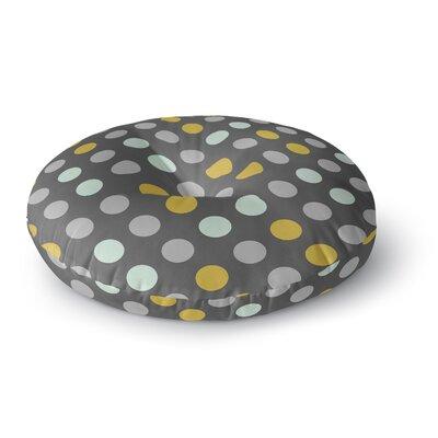 Pellerina Design Minty Polka Round Floor Pillow Size: 26 x 26