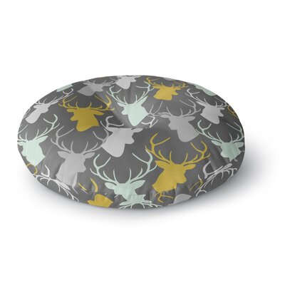 Pellerina Design Scatter Deer Round Floor Pillow Size: 23 x 23, Color: Gray