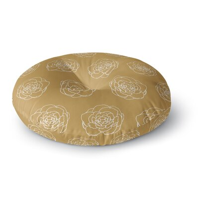 Pellerina Design Golden Peonies Round Floor Pillow Size: 26 x 26