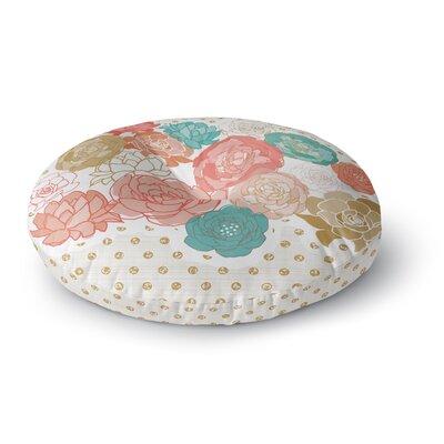 Pellerina Design Spring Florals Blush Peony Round Floor Pillow Size: 23 x 23