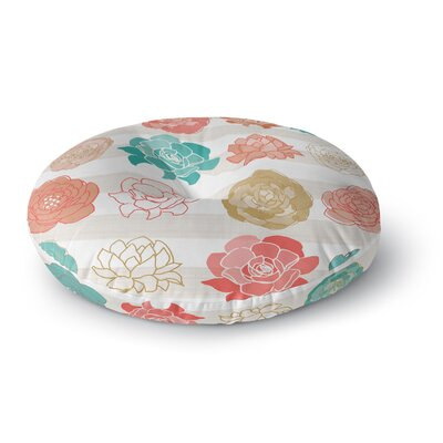 Pellerina Design Flower Square Floral Round Floor Pillow Size: 26 x 26