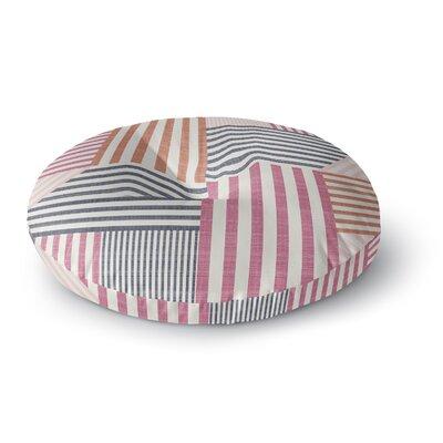 Pellerina Design Mod Linework Geometric Round Floor Pillow Size: 26 x 26