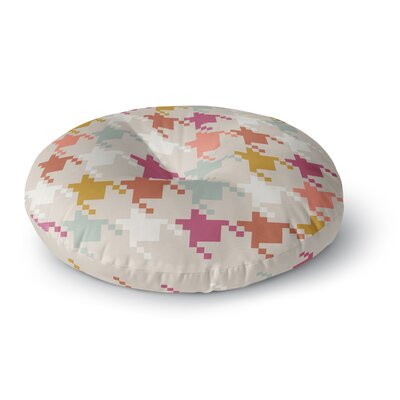 Pellerina Design Houndstooth Panel Digital Round Floor Pillow Size: 26 x 26