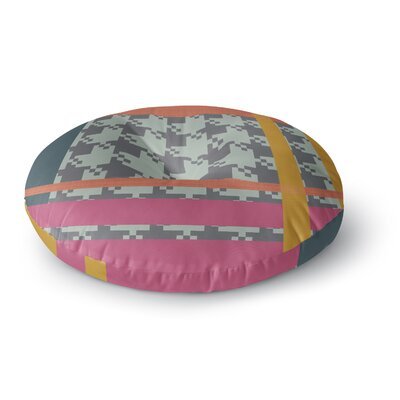 Pellerina Design Houndstooth Contemporary Round Floor Pillow Size: 26 x 26