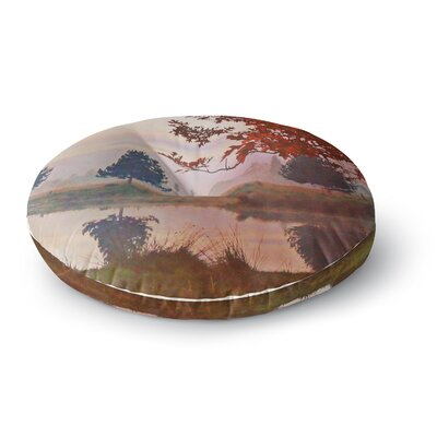 Pellerina Design Magic Morning Nature Round Floor Pillow Size: 26 x 26
