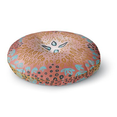 Pellerina Design Fresh Spring Flower Burst Round Floor Pillow Size: 26 x 26, Color: Orange