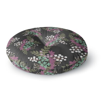 Pellerina Design East Coast Painting Round Floor Pillow Size: 23 x 23, Color: Green/Pink