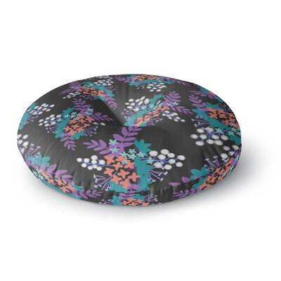 Pellerina Design East Coast Painting Round Floor Pillow Size: 26 x 26, Color: Pink/Teal/Red