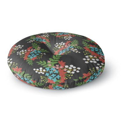 Pellerina Design East Coast Painting Round Floor Pillow Size: 26 x 26, Color: Green/Red/Teal