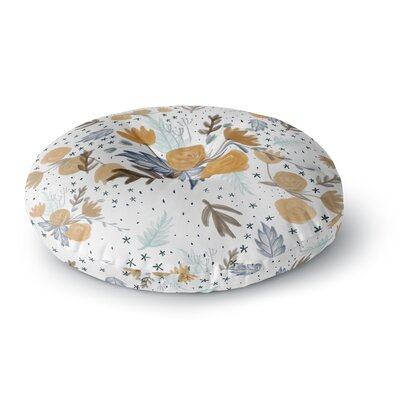 Pellerina Design Floral Painting Round Floor Pillow Size: 26 x 26