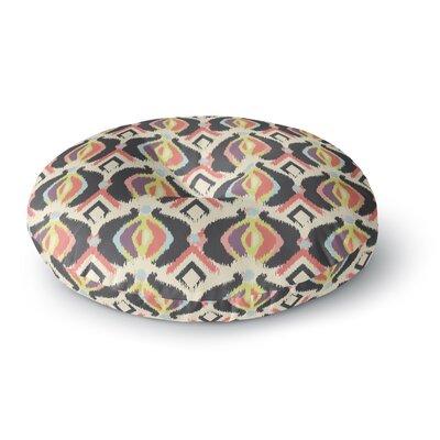 Amanda Lane Bohemian Ikat Round Floor Pillow Size: 26 x 26
