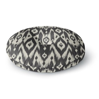 Amanda Lane Tribal Ikat Round Floor Pillow Size: 23 x 23