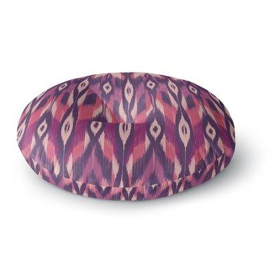 Amanda Lane Ikat Lavender Round Floor Pillow Size: 23 x 23
