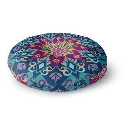 Amanda Lane Blooming Mandala Round Floor Pillow Size: 26 x 26