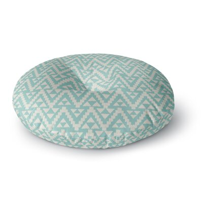 Amanda Lane Geo Tribal Tribal Round Floor Pillow Size: 23 x 23, Color: Teal