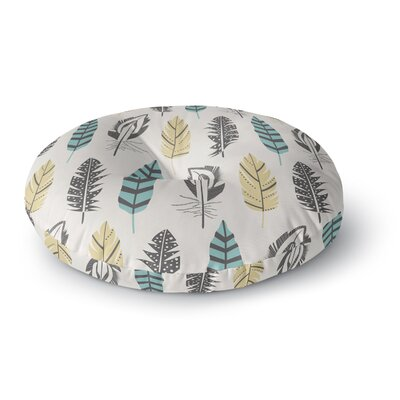 Amanda Lane and Feathers Digital Round Floor Pillow Size: 26 x 26