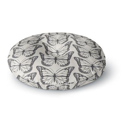 Amanda Lane Monarch Spirit Illustration Round Floor Pillow Size: 26 x 26