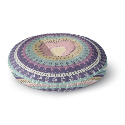 Amanda Lane Bohemian Tribal Mandala Multi Digital Illustration Round Floor Pillow Size: 26 x 26