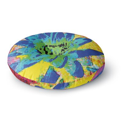 Anne LaBrie Wild Lotus Flower Round Floor Pillow Size: 26 x 26