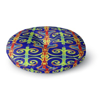 Anne LaBrie Swirl Away Round Floor Pillow Size: 23 x 23