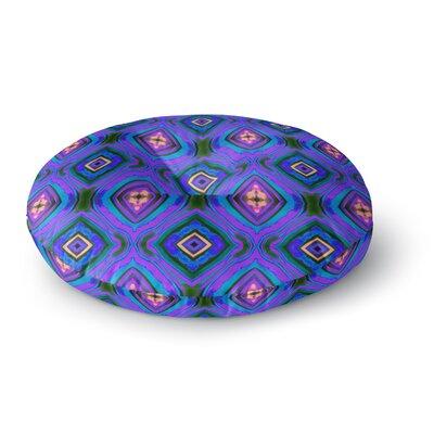 Anne LaBrie Diamond Round Floor Pillow Size: 26 x 26, Color: Purple/Blue