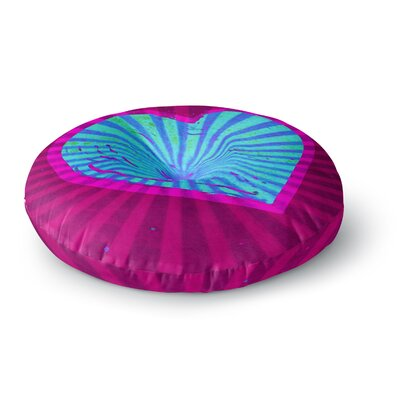 Anne LaBrie Love Modern Round Floor Pillow Size: 23 x 23, Color: Blue