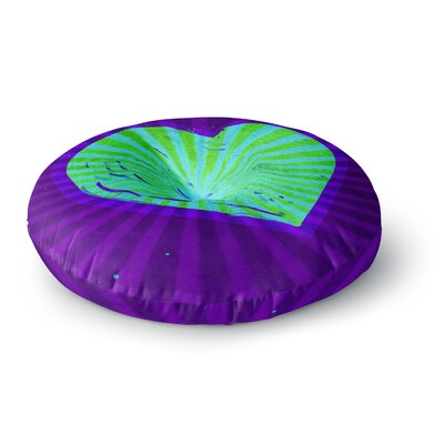 Anne LaBrie Love Modern Round Floor Pillow Size: 23 x 23, Color: Purple/Green