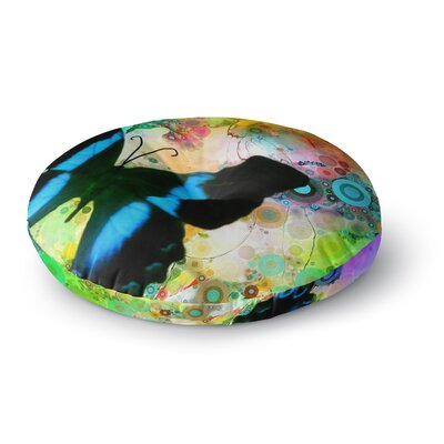 Alyzen Moonshadow Butterfly Round Floor Pillow Size: 23 x 23