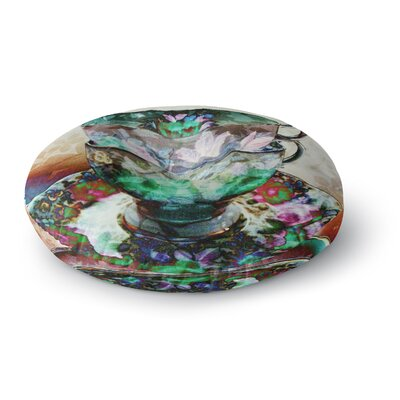 Alyzen Moonshadow Mad Hatters T-Party III Abstract Round Floor Pillow Size: 23 x 23