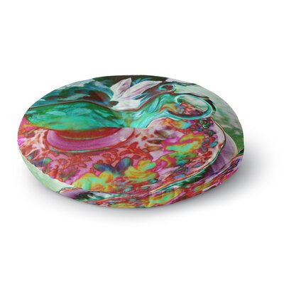 Alyzen Moonshadow Mad Hatters T-Party IV Round Floor Pillow Size: 23 x 23