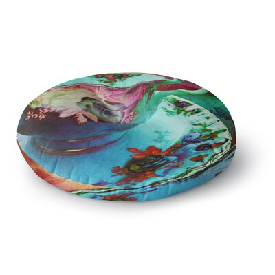 Alyzen Moonshadow Mad Hatters T-Party VI Round Floor Pillow Size: 26 x 26