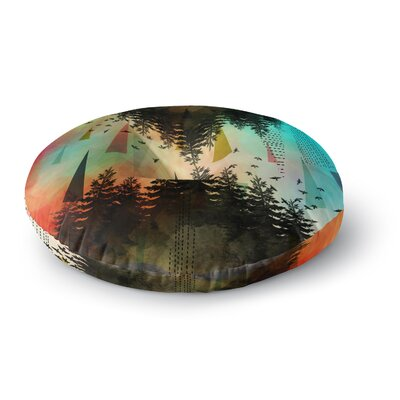 Alyzen Moonshadow As Above, So Below Round Floor Pillow Size: 26 x 26