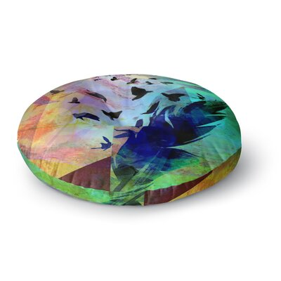 Alyzen Moonshadow Not Quite Birds of A Feather Round Floor Pillow Size: 23 x 23