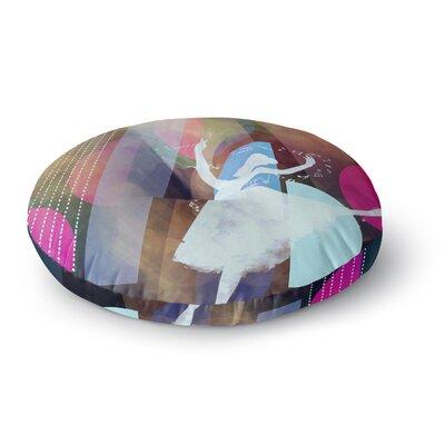 Alyzen Moonshadow Ballet Geometric Round Floor Pillow Size: 26 x 26