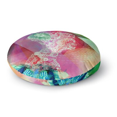Alyzen Moonshadow Silhouette Round Floor Pillow Size: 23 x 23, Color: Pink