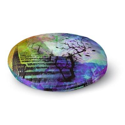 Alyzen Moonshadow Stairway Tree Round Floor Pillow Size: 23 x 23