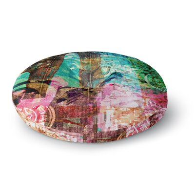 Alyzen Moonshadow Abstract Round Floor Pillow Size: 23 x 23