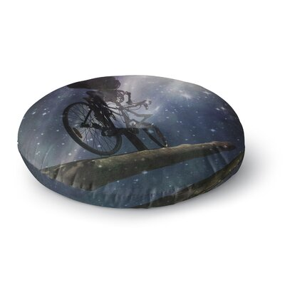 Alyzen Moonshadow No Rest for The Wicked Galactic Round Floor Pillow Size: 26 x 26