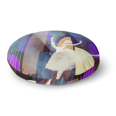 Alyzen Moonshadow Ballet Geometric Round Floor Pillow Size: 23 x 23