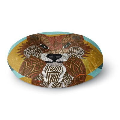 Art Love Passion Colored Fox Round Floor Pillow Size: 23 x 23