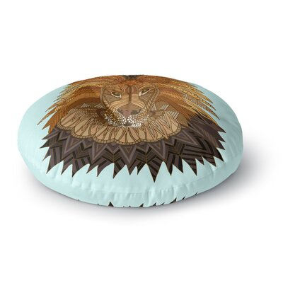 Art Love Passion Lion Round Floor Pillow Size: 23 x 23