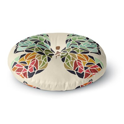 Art Love Passion Butterfly Round Floor Pillow Size: 23 x 23
