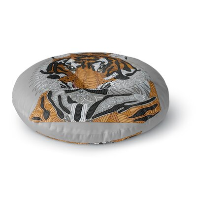 Art Love Passion Tiger Round Floor Pillow Size: 26 x 26